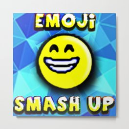 emoji Smash up Metal Print