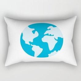 Minimalist Earth Science Badge Rectangular Pillow
