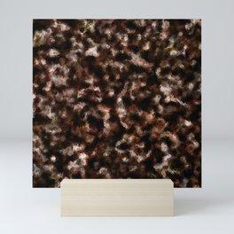 Brown Foil Abstract Pattern Mini Art Print
