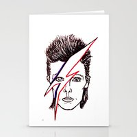 aladdin Stationery Cards featuring Bowie Aladdin by Diego L.D.
