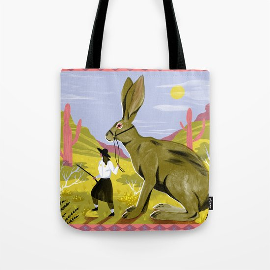 Riding Hare Tote Bag