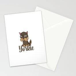 Only Talking To My Yorkie Today Dog Pet Animal Stationery Cards