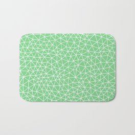 Connectivity - White on Mint Green Bath Mat