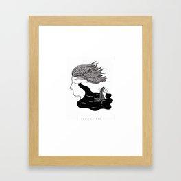 Men Cry More Framed Art Print