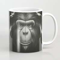 tooth Mugs featuring Monkee with Tooth by Dr. Lukas Brezak