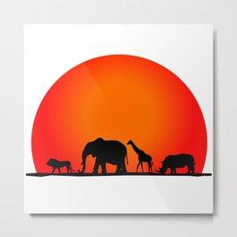 Animal Safari Metal Print