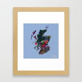 Scotland Counties Fabric Map Art Framed Art Print
