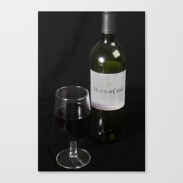 A Little Nip - Wine Canvas Print