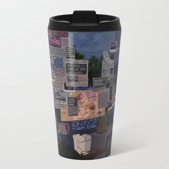 Conspiracy Theorist Metal Travel Mug