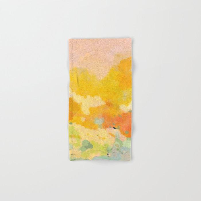 abstract spring sun Hand & Bath Towel