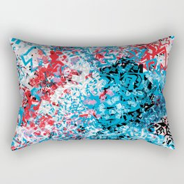 Demonic Toy Poodle Abstract Rectangular Pillow