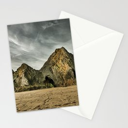 Jagged and dramatic Three Cliffs Bay Stationery Cards