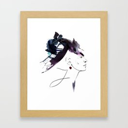 bloomy January Framed Art Print
