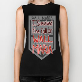 I Survived the Fall of Wall Maria Biker Tank