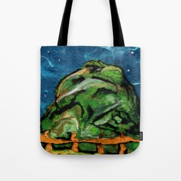 Mysterious Hill Tote Bag