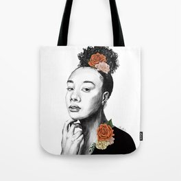 Autumn petals - floral portrait 2 of 3 Tote Bag