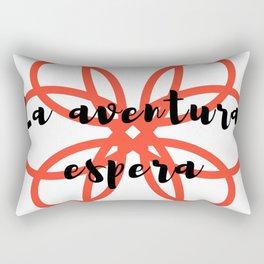 La aventura espera | Adventure awaits Rectangular Pillow