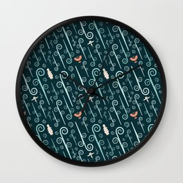 Avatar: The Last Airbender (Dark) Pattern Wall Clock