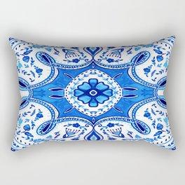 Indigo Mandala Tapestry Design Rectangular Pillow