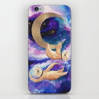 sloths iPhone & iPod Skins featuring Sloths in Space by Kamina