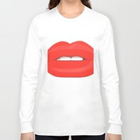 lips Long Sleeve T-shirts featuring Lips by uzualsunday