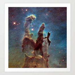 Pillars of Creation- NASA Hubble Telescope Image Art Print