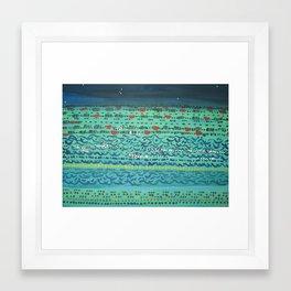 Mar de noche / Sea at night Framed Art Print
