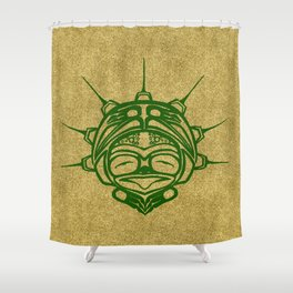 Grass Frog Sand Shower Curtain