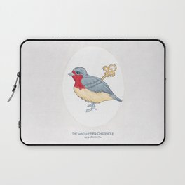 Haruki Murakami's The Wind-Up Bird Chronicle // Illustration of a Bird with a Wind-up Key in Pencil Laptop Sleeve