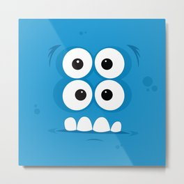 Psychos - Crazy Monsters (Blue) Metal Print