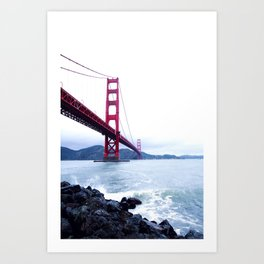 Contrast Bridge Art Print