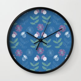 Thistles and Flowers Wall Clock
