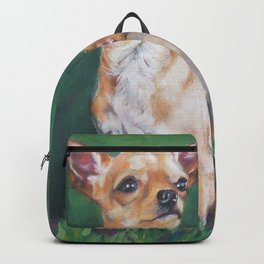 Chihuahua Fine Art Dog Painting from an original painting by L.A.Shepard Backpack
