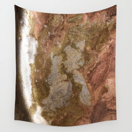 The turn of a glittering planet Wall Tapestry