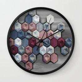 hex abstract Wall Clock