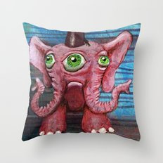 Pachyderm Goes Both Ways Throw Pillow