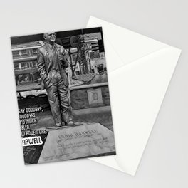 Baseball Announcers Stationery Cards