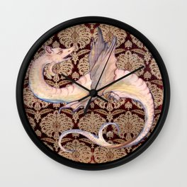 White Dragon - Garden of Beasts Collection Wall Clock