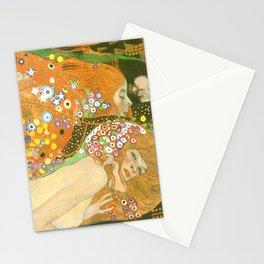 "Gustav Klimt ""Water Serpents"" Stationery Cards"