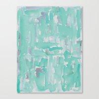 aqua Canvas Prints featuring Aqua by Georgiana Paraschiv