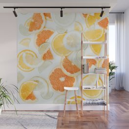 citrus fresh orange twist Wall Mural
