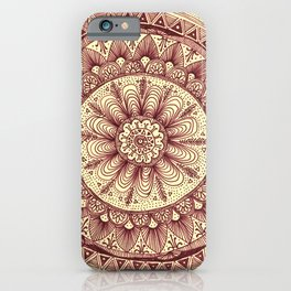 mandala: maroon iPhone Case