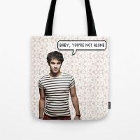darren criss Tote Bags featuring Darren Criss  by Hannah