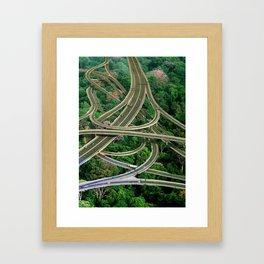 Capillary Motion, art print, gift, collage art, hand cut Framed Art Print