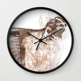 wood character  Wall Clock