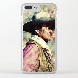 John Wayne Clear iPhone Case
