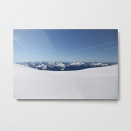 Cloudless Summit Metal Print