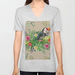 Tropic Wall-Bird Unisex V-Neck
