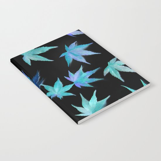 AUTUMN ROMANCE - LEAVES PATTERN #1 #decor #art #society6 Notebook