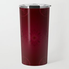 Red Leaf Mandala Travel Mug